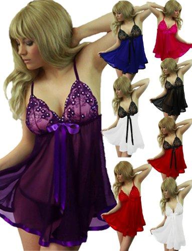 c888558ea Yummy Bee Lingerie Babydoll Dress Set Plus Size 8 - 30