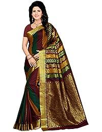 Rani Saahiba Women's Art Silk Zari Border Saree( Skr3222_Multi Color )