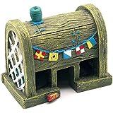 Honeysuck - Acuario Peces Tanque cangrejo casa adorno decoración para el hogar (luz amarillo)
