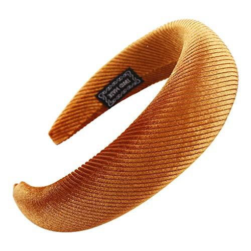 Headband/Dorical Haarbänder Vintage Blume Haarschmuck Stirnband Haarreifen Rockabilly Accessoires für Damen Mädchen Fashion Bow Tägliche Kopfbedeckung Frauentag haarbänder (One size, Z02-Gold)