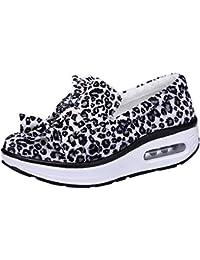 Zapatos individual Leopard impresión para mujer,Sonnena casual zapatos sin correa de mujer Zapatos de plataforma gruesa con estampado de leopardo