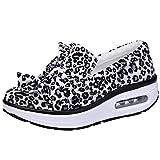 Damen Schaukelschuhe,TWBB Mode Leopard drucken Boden Leichtgewicht Schuhe Laufschuhe Luftkissen Sportschuhe Outdoor Breathable Freizeitschuhe