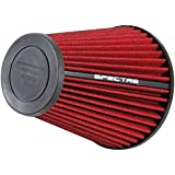 Spectre Performance HPR9609 Universal Clamp-On Air Filter: Round Tapered; 2.5 in (64 mm) Flange ID; 8 in (203 mm) Height; 5.656 in (144 mm) Base; 3.156 in (80 mm) Top
