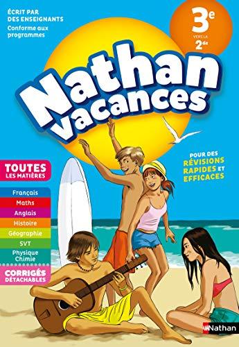 Cahier de Vacances 2018 de la 3ème vers la 2nde, toutes les matières - Nathan Vacances collège