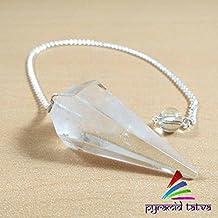 Navidad Venta. Claro cuarzo dowser Natural Gemstone Chakra Curación Reiki pirámide de piedra conjunto gratuito de lapislázuli...