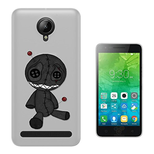 c00763 - Voodoo Doll Punk Gothic Scary Doll Pins In The Head Design Lenovo Vibe C2 Fashion Trend Silikon Hülle Schutzhülle Schutzcase Gel Rubber Silicone Hülle