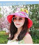 TFFBO Nuovo cappello da sole estivo da viaggio cappello da sole protezione solare TFFBO (Color : Red)