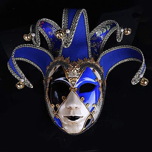 ade Bemalte Halloween Party Party Maske Gehobenen Venedig Lady Performance Maske,Blue ()