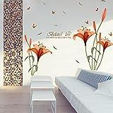 Aufkleber,Resplend Entfernbar Wandaufkleber Kreativität Modisch Wandtattoos PVC Klebende Wandsticker Kunst Wohnkultur Wanddeko DIY Tapete Wandbilder (Orange)