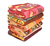 #9: Sneha Polar Fleece Single Printed Bed Blanket Set of 5-Multicolor
