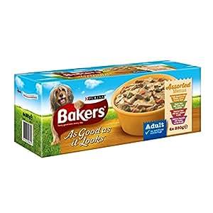 Bakers As Good As It Looks Assorted Menus Dog Food 4 x 280 g (Pack of 4, 16 Tubs in Total)