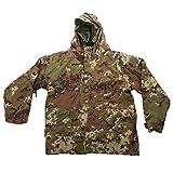 Parka vegetato verde impermeabile giacca pile freddo soft air imbottito caccia