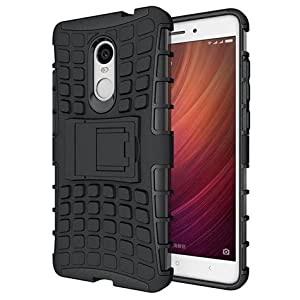 Defender Tough Hybrid Armour Shockproof Hard PC with Kick Stand Rugged Back Case Cover for Xiaomi Redmi Note 4
