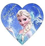 Frozen Elsa Anna Disney Princess Personalisierte Kuchendekoration Puderzucker Herz Form IMGE A