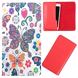DooDa - For Panasonic P11 PU Leather Designer Fashionable Fancy Case Cover Pouch With Smooth Inner Velvet