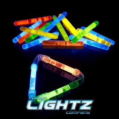 80 Knicklichter 3,9cm x 0,4cm FarbMix, Glowsticks, Leuchtstäbe (KL)