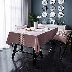 BNASA Nappe Géométrique Ondulation Table De Couverture De Toile Imprimer Anti-Poussière Décor Table De Chevet Maison Nappes Adiabatiques