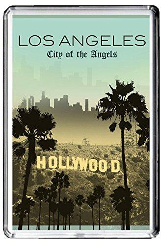 B433 HOLLYWOOD LOS ANGELES USA KÜHLSCHRANKMAGNET USA VINTAGE TRAVEL PHOTO REFRIGERATOR MAGNET