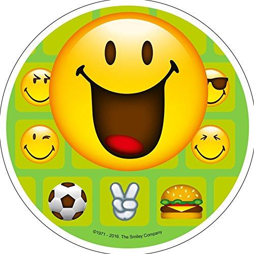 Essbarer Tortenaufleger Smiley aus Zuckerpaste 4 Motive zur Auswahl (Motiv 3)