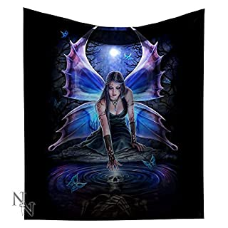 Immortal Flight Gothic Fairy Throw Snuggle Blanket By Anne Stokes