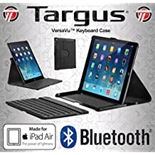 Targus VersaVu Multi-View Lightweight Faux Leather Case with Rotating Portrait + Landscape Stand with Removable Wireless Bluetooth Keyboard for iPad Air 1 + 2, [Importado de UK]