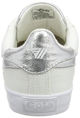 Gola Orchid Textile Metallic, Bottes Classiques Femme Blanc (White/silver)