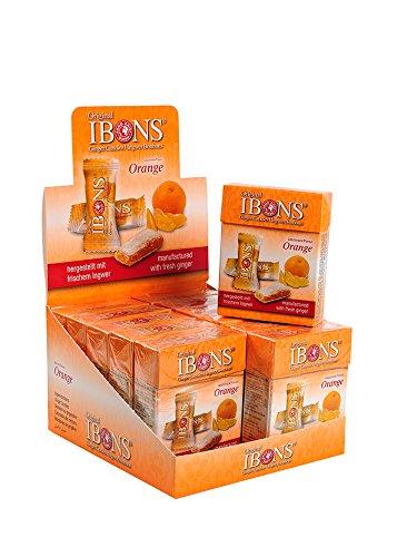 IBONS Kaubonbons 12 x 60 g (Ingwer-Orange)