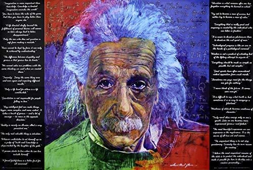 Close Up As Quoted by Einstein Poster David Lloyd Glover (91,5cm x 61cm) + weiße Geschenkverpackung. Verschenkfertig!