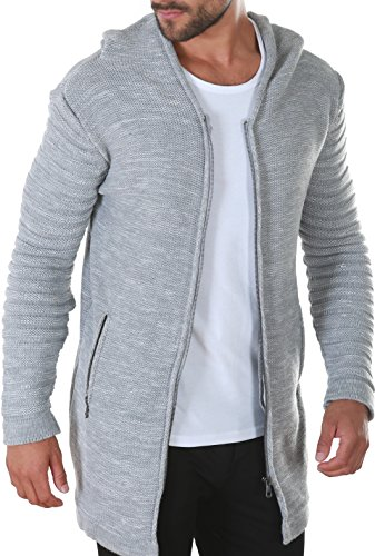 Karl\'s People People Herren Strickjacke mit Kapuze K-115 XL Grey