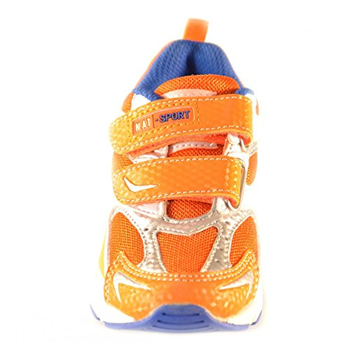 Naturino - Naturino Scarpe Bambino Arancio Argento Bianco Strappi Velcro Spoirt 233 Orange
