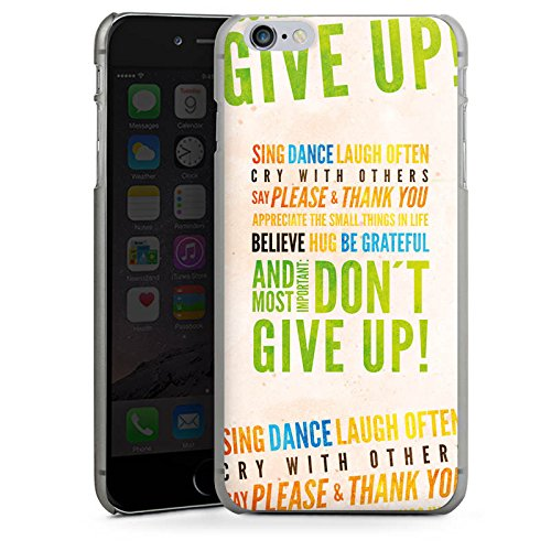 Apple iPhone X Silikon Hülle Case Schutzhülle Sprüche Statement Don't give up Hard Case anthrazit-klar