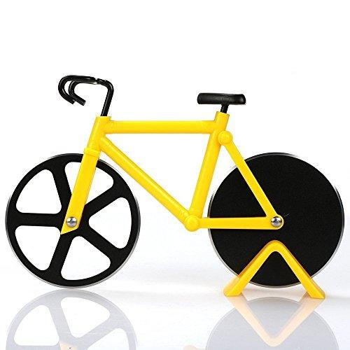 Genossen Fahrrad Pizzaschneider, Edelstahl Doppel Pizza Schneider