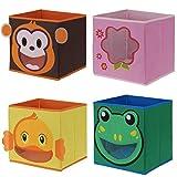 LS Design Kinder Organizer Faltbar Aufbewahrung Box Kiste Schublade Spielzeug Ente