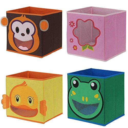 faltbox kinderzimmer LS Design Kinder Organizer Faltbar Aufbewahrung Box Kiste Schublade Spielzeug Ente
