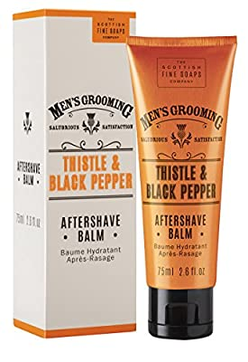 Scottish Fine Soaps Thistle & Black Pepper Complete Shaving Kit Including Shaving Gel, Aftershave Balm and Facial Wash