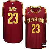 Cleveland Cavaliers 23 LeBron James Trikot Herren Basketball Jersey Mens Shirt Burgundy Size L