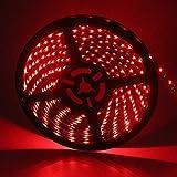 Grandview rot 16.4ft/5M LED Strip-Light flexibel 3528300SMD Wasserdicht Licht Streifen für Auto Stage Party Weihnachten Garten Schrank Heimwerker Haushalt Dekoration £ ¨ dc-24V