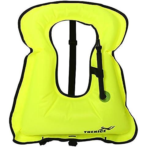 Das leben Snorkel buceo chaleco inflable para buceadores y seguridad en el agua niños y adultos unisex