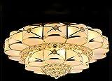 D chandelier Crystal Lampe 1 Meter 2 Wohnzimmer Lichter Dimmen Restaurant Lichter Rund Gro?e LED-deckenleuchte,1 * 1m,Dreifarbiges Dimmen + Fernbedienung (W)