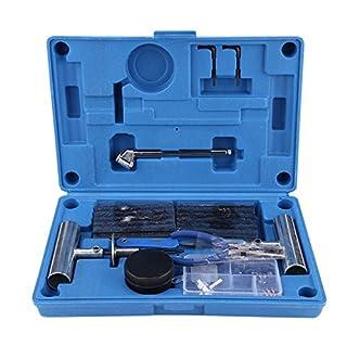 Zerone Reifen Reparatur, 67Pcs Autoreifen Repair Tool Kit Auto Reifen Reparatur Reifenpannen Reparatur-Set für Auto-Motorrad-LKW Traktor Flat Reparatur Set