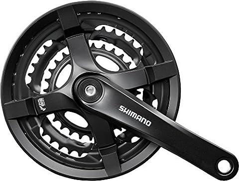 Shimano Guarnitura 6/7/8-Velocità Nera FC-TY501 48/38/28T 170mm+Parac