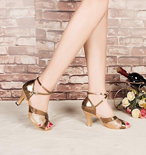 Minitoo ,  Damen Tanzschuhe , Gold – gold – Größe: 38 - 6