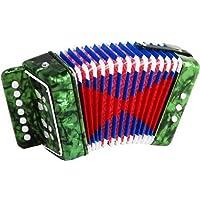 Scarlatti Accordions ST214 GREEN - Acordeón de botones (junior, 7 teclas), color verde