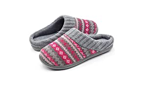 RockDove Women's Sweater Knit Memory Foam Slipper