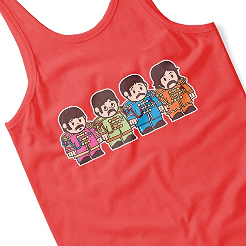 Mitesized Sgt Peppers Beatles Men's Vest Red