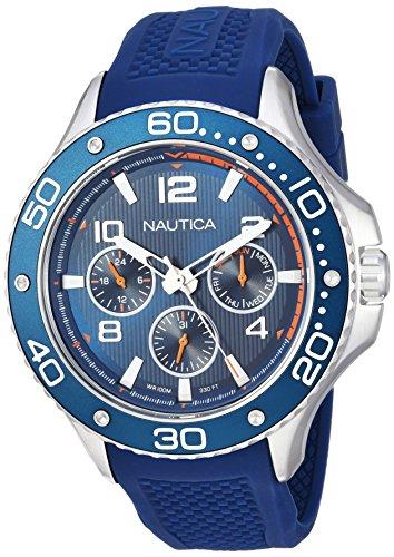 Nautica Reloj Analogico para Hombre de Cuarzo con Correa en Silicona NAPP25002