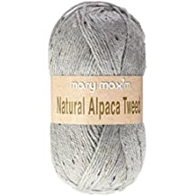 Natural alpaca Tweed de lana gris