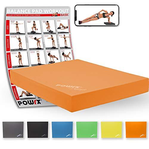 POWRX Balance Pad/Sitzkissen/Kissen Yoga Pilates (Orange)