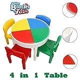 SEIGNEER 4 IN 1 Kinder Tisch und Stuhl Kindermbel Kindertisch mit 4 Stühlen Kinder Spieltisch Aufbewahrungsbox and Water