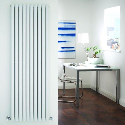 Milano Radiador de Diseño Vertical Doble - Blanco - 1780mm x 590mm x 78mm - 2335 Vatios - Revive